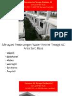 WA 085725142100,Water Heater Selain Gas,Pemanas Air AC Harga
