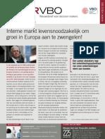 Interne markt levensnoodzakelijk om groei in Europa aan te zwengelen!, Infor VBO 31, 30-09-2010