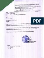 Surat Pelaksanaan KKN PPM Periode XVII Tahun 2018