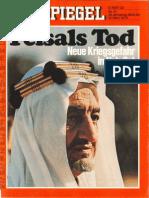 Der Spiegel - Feisals Tod Neue Kriegsgefahr in Nah-Ost