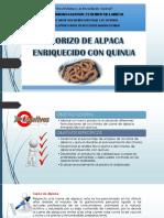Chorizo de Alpaca Con Quinua