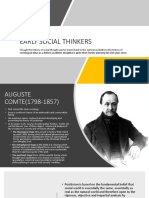 Early Social Thinkers and theoretical perspectives