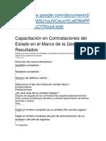 FORMATO DE REGISTRO PARA LA CHARLA DE CONTRATACIONES CON EL ESTADO