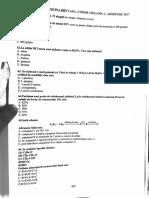 chimie admitere medicina dentara 2017