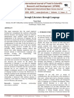 Language through Literature through Language