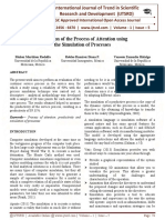 Evaluation of the Process of Attention using the Simulation of Processes