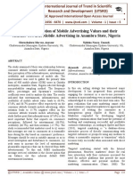 Consumer Perception of Mobile Advertising Values and their Attitude Towards Mobile Advertising in Anambra State, Nigeria