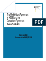 Model Grant Agreement and Consortium Agreement