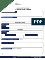 Formato de Protocolo de Proyectos