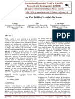 Alternative Low Cost Building Materials on Beams