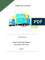 Camion Recolector de Basura de Carton