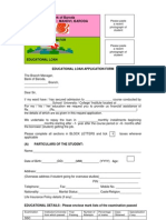 Education Loan Form