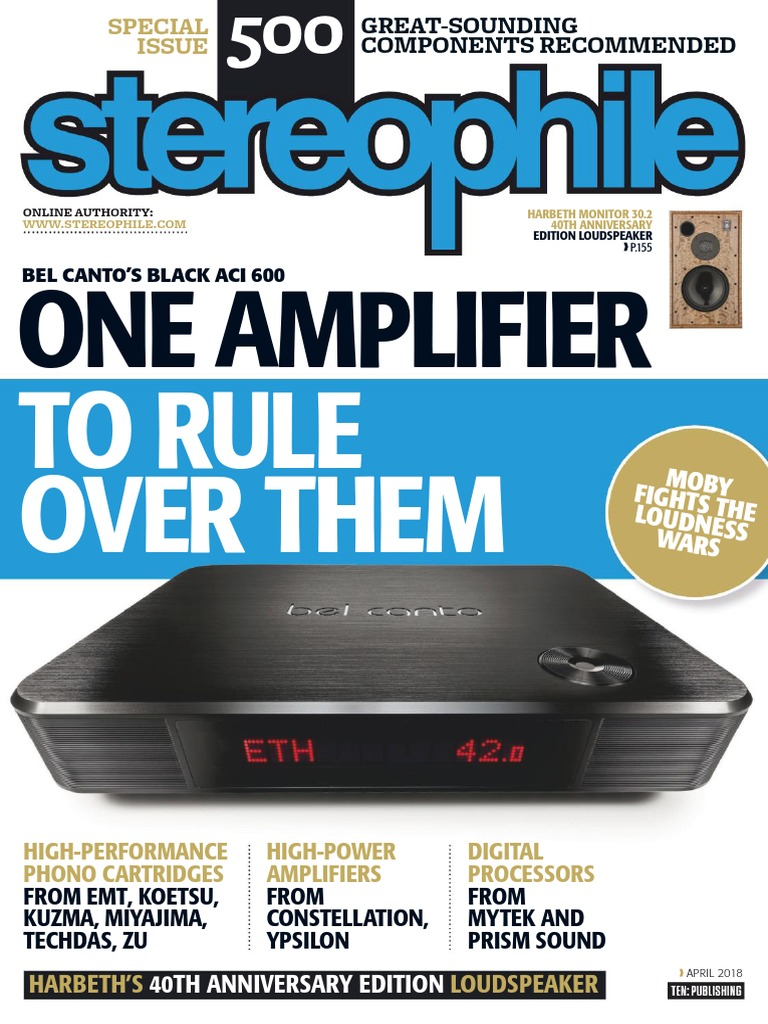 Stereo_phile April 2018 | Data Compression | Phonograph