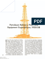 Petroleum Refinery Plant and Equipment Expenditures, 1950-58