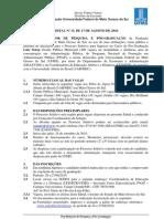 edital gestão pública municipal - Pós graduação