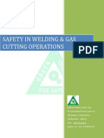 Safetyin Welding Gas Cutting Operations