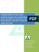 Overview of Statutes Applicable to Construction Industry