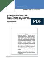 Azerbaican Russia Turkey Energy Triangle 1018