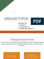analisis Pupuk - 1
