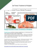 Benign Essential Tremor Treatment at Parijatak
