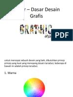 Dasar – Dasar Desain Grafis