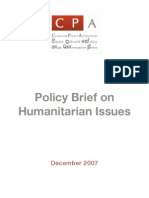 Brief on Humanitarian Issues