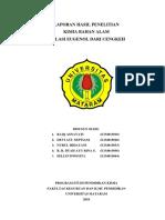 Laporan Isolasi Senyawa Eugenol (Cengkeh)