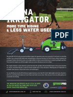 Arena Irrigator Flyer Spec Sheet 2017