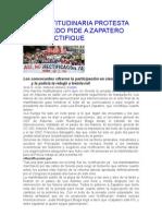 Una Multitudinaria Protesta en Oviedo Pide a Zapatero Que Rectifique