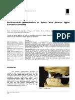 Prosthodontic Rehabilitation of Patient With Anterior Hyper