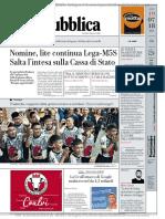 La Repubblica 19 Luglio 2018 by WXM