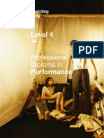 Level 4 Professional Diploma in Performance Specification