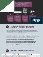 Elaboração de Itens - Prova Athenas -Teste de Progresso
