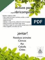 Cartel Lombricomposta