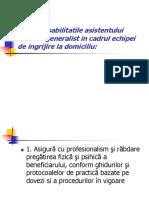 Responsabilitatile Asistentului Medical Generalist in Cadrul Echipei De