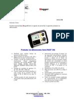 419-12-FM Serie RCDT 300 Probadores de Diferenciales Megger ELECTROSUR