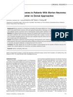 Neurectomy Outcomes in Patients With Morton Neuroma - Comparison of Plantar vs Dorsal Approaches