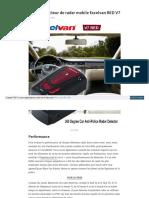 Revue detecteur de radar mobile Excelvan RED V7