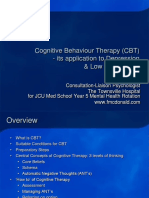 Cognitive Behavioral Therapy (CBT) - Application to Depression & Low Self-Esteem