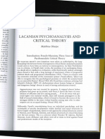 The Lacanian Psychoanalysis and Critical
