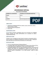 Sílabo Desarrollo de Habilidades Directivas Virtual