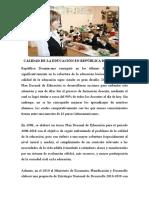 CALIDAD DE LA EDUCACIÓN EN REPÚBLICA DOMINICANA (1).doc