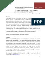 florencia lederman formas del cambio, legitimidad y nuevo orden en brasil (1964) y argentina (1976)