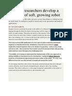 Ringkasan Journal Growing Robot
