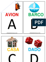 Abecedario Imprimible Fichas Letras Aprender
