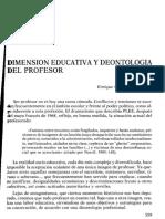 4.2 Dimensión Educativa y Deontología Del Profesor