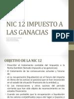 Nic 12 Impuesto a Las Ganacias