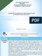 Corrientes Filosóficas y Metodológicas de La Investigación Educativa