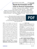 Factors that Impede the Formation of Self-Directed work teams in Mexican Organizations