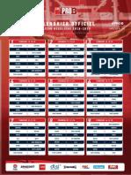 Calendrier Pro B 2018-19